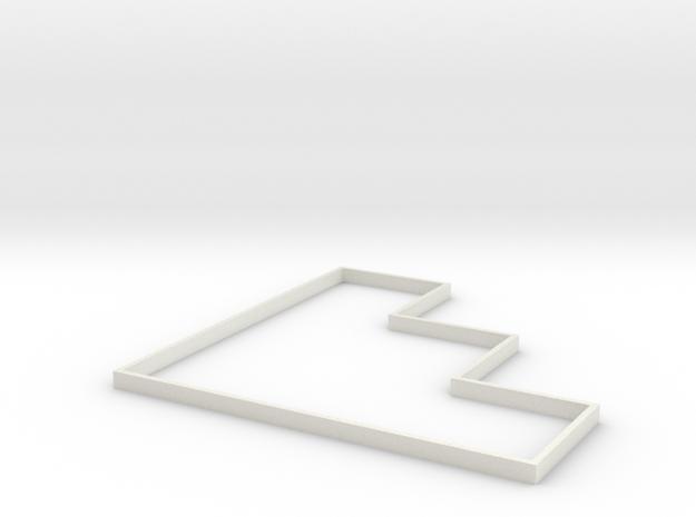 Area Effect Template - 15 foot cone in White Natural Versatile Plastic