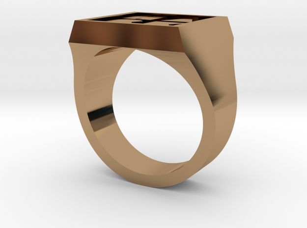 HACKMIT Ring Size 9  in Polished Brass