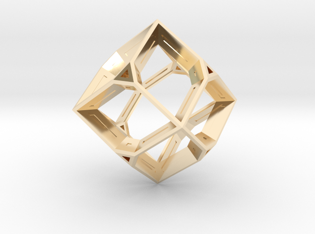 Truncated Octahedron in 14K Gold