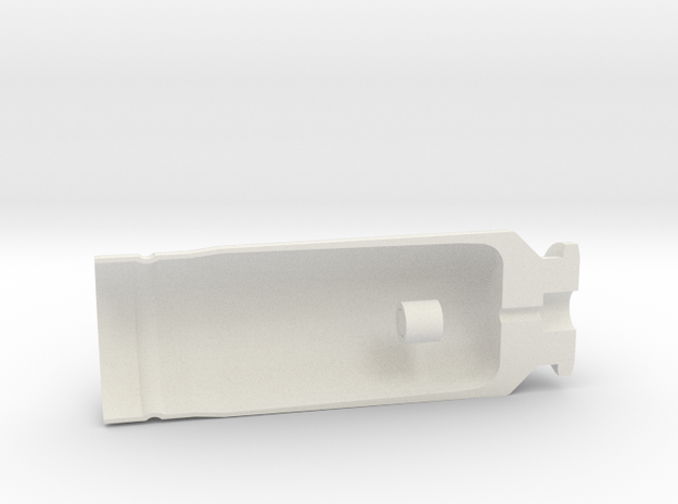 """30x90mm Cutaway Casing, """"Type B"""" Style  in White Strong & Flexible"""
