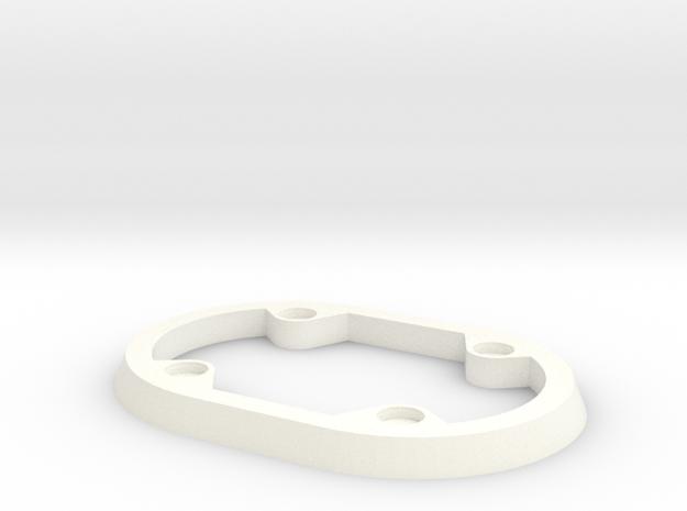 Brush Skirt Ring in White Strong & Flexible Polished