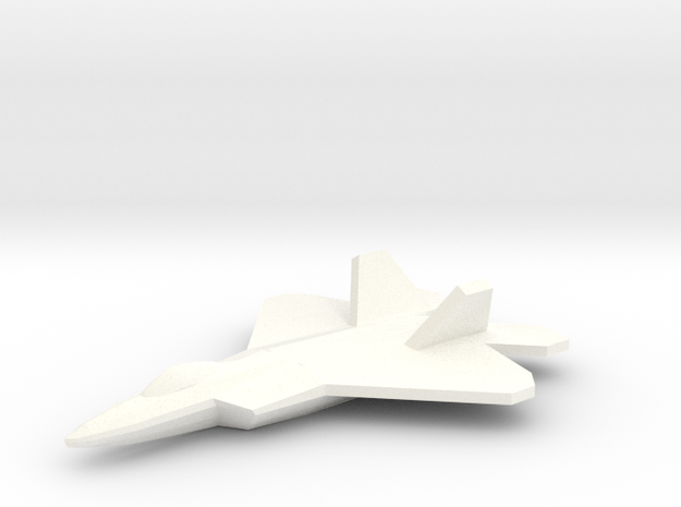 F-22 Raptor 1/350 in White Strong & Flexible Polished