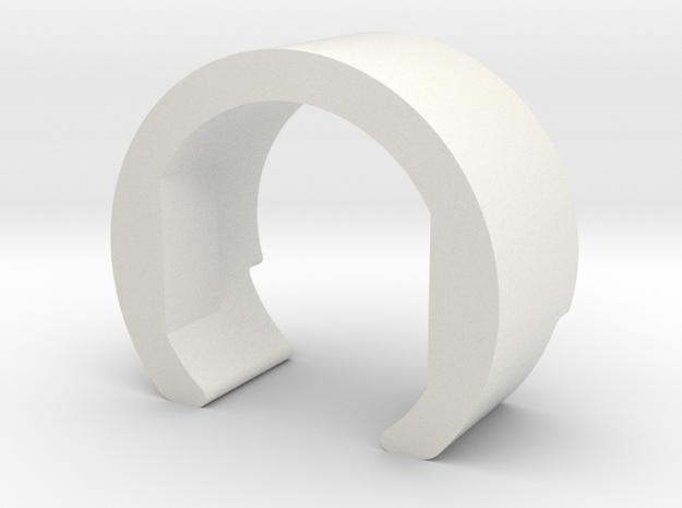 Hopup-clip in White Natural Versatile Plastic