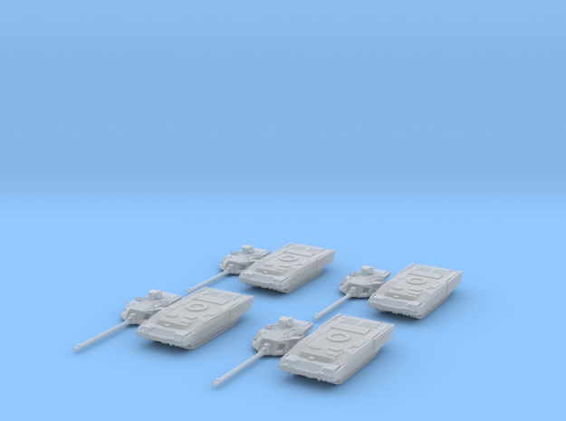T-14 Armata platoon 1:285 separate turrets. in Smooth Fine Detail Plastic