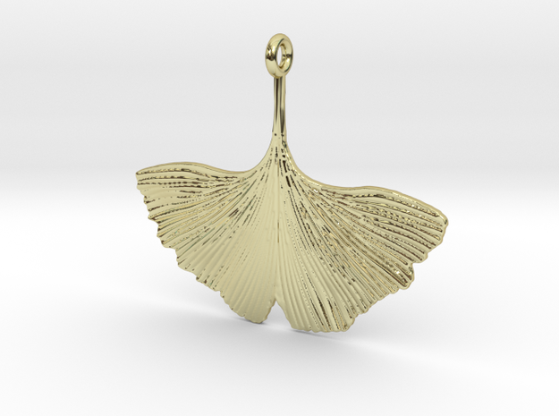 Ginkgo Necklaces in 18k Gold Plated Brass