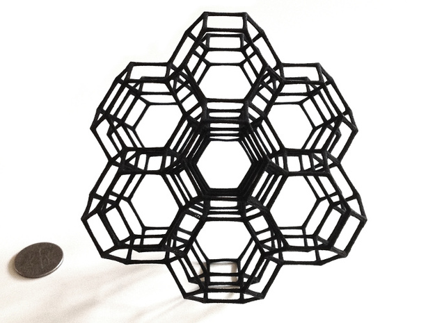 Truncated octahedral lattice 3d printed