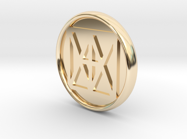 """Universal """"I AM"""" 21mm Coin, solid center in 14k Gold Plated"""