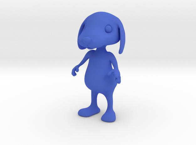 Tiny Dog in Blue Processed Versatile Plastic