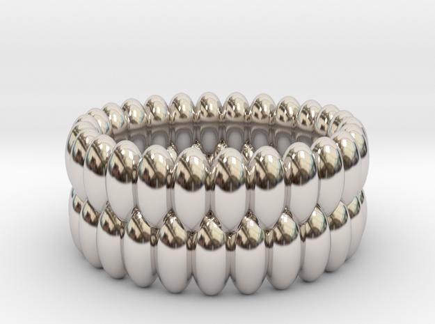 V6 - Ring in Rhodium Plated