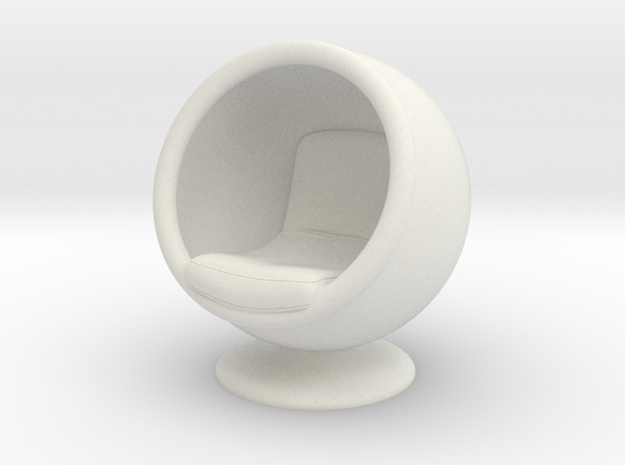 Ball Chair in White Strong & Flexible