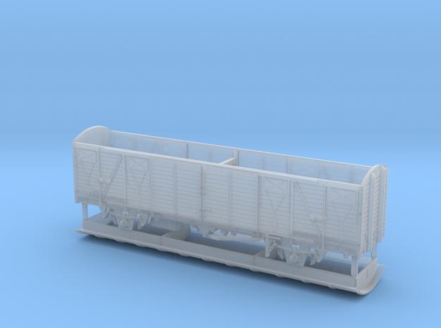 TT Gedeckter Fährbootwagen Gbmhs 51 in Smooth Fine Detail Plastic