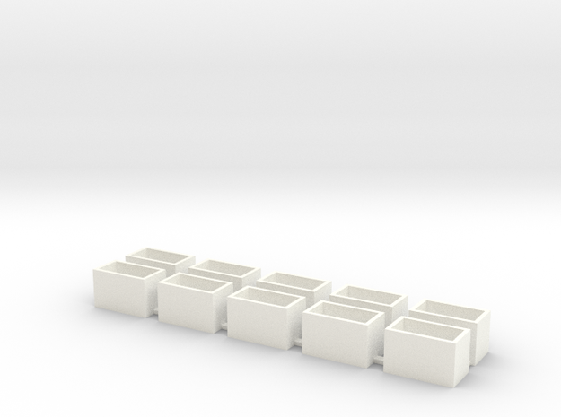 10 Pack Speaker Box Closed - 16mm x 9mm x 10mm  in White Strong & Flexible Polished