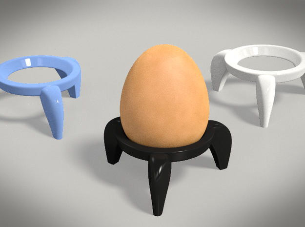 Egg Rocket Porcelain 3d printed A rendering of the cups and an egg