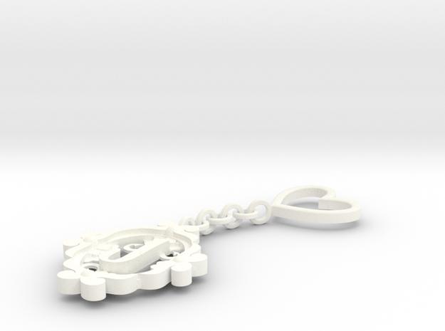 J Keychain Art Nouveau 3d printed