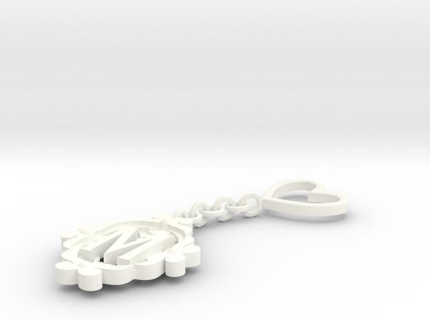 M Keychain Art Nouveau 3d printed