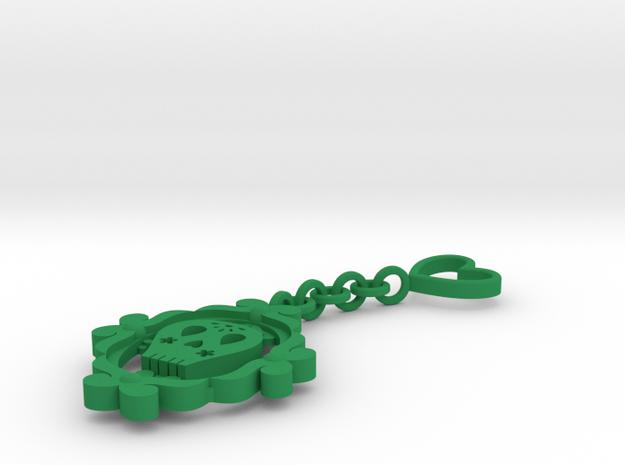 Sugar Skull Keychain 3d printed
