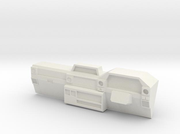 Dash for 1:10 scale LandCruiser FJ 70 body in White Strong & Flexible