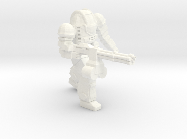 Ogre MKII Heavy Rotary Cannon in White Strong & Flexible Polished