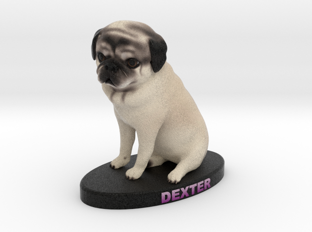 Custom Dog Figurine - Dexter in Full Color Sandstone