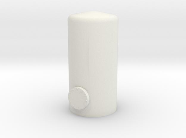 HO Vertical Tank H37mm in White Natural Versatile Plastic