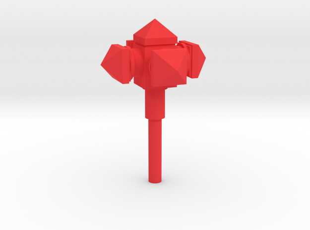 MiniFig NK Mace Ultimate in Red Processed Versatile Plastic