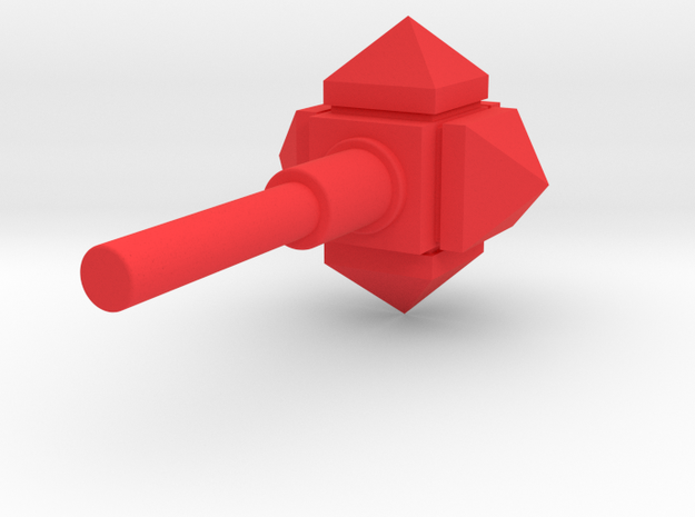 MiniFig NK Mace Std in Red Processed Versatile Plastic