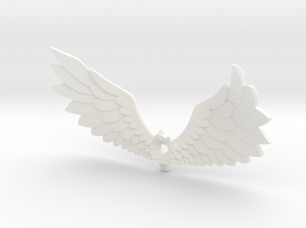 Courage Wings in White Strong & Flexible Polished