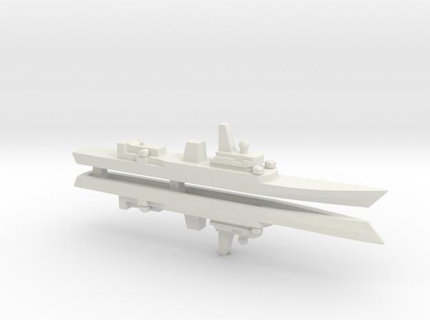 Haijing/CCG-31240 Patrol Ship x2, 1/1800 in White Strong & Flexible