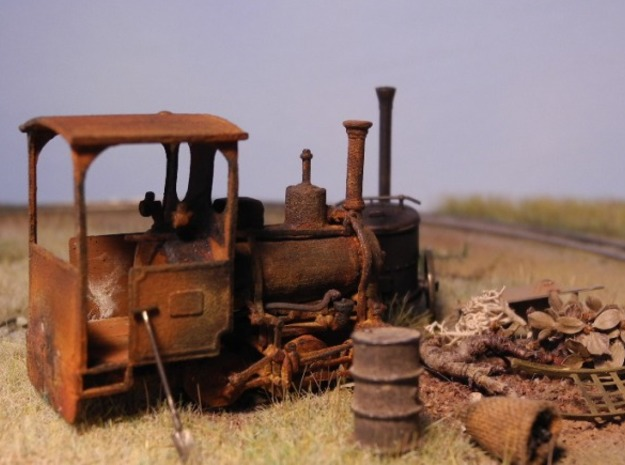 Max Orenstein No. 173 1:45 12mm 3d printed Max Orenstein No. 173 as old rusty beauty