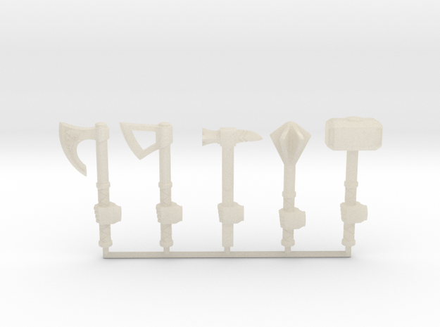Miniature Weapon Collection (left hand) in White Acrylic