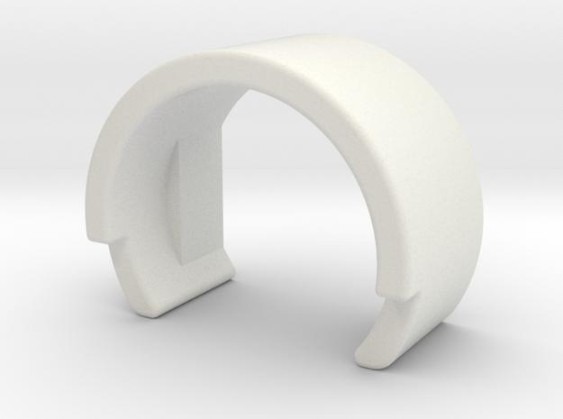 Hopup Clip CUSTOMIZABLE in White Natural Versatile Plastic