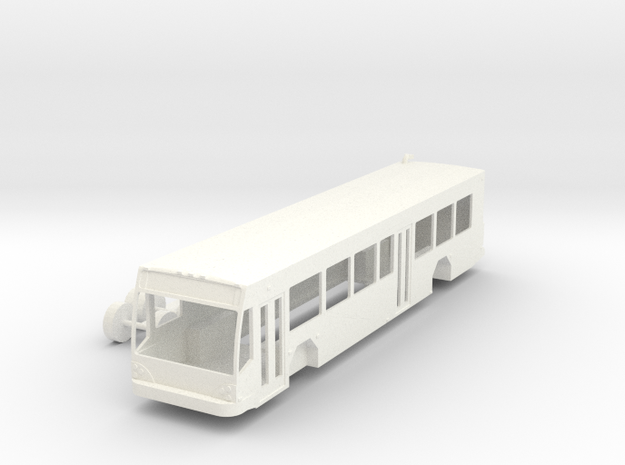 HO Scale Gillig BRT Bus Right Hand Drive in White Strong & Flexible Polished