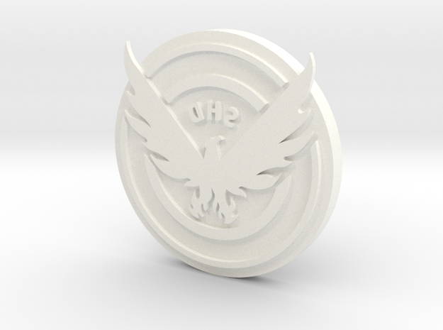 The Division: SHD Clothing Stamp in White Processed Versatile Plastic