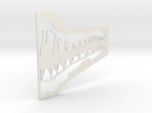 Jaw Mask Stencil (For Airsoft Mesh Mask) in White Natural Versatile Plastic