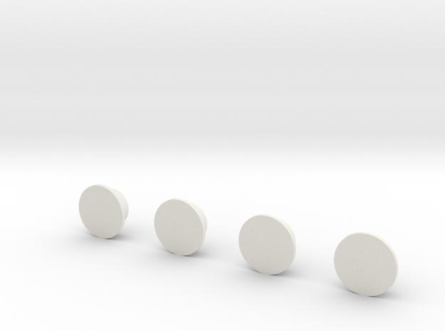 Orion SLS Eng Base Plugs 1:72 in White Natural Versatile Plastic
