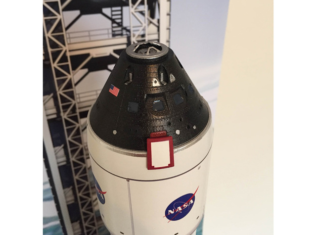 Orion Crew Module (CM) 1:72 in Smooth Fine Detail Plastic
