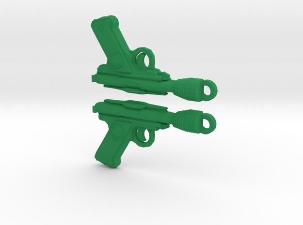 Green Rodian Blasterearrings in Green Strong & Flexible Polished