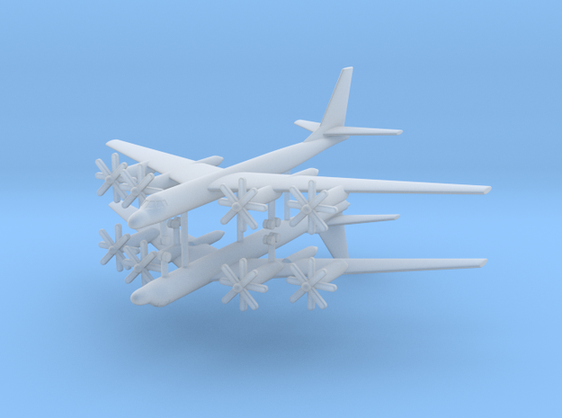 1/600 TU-95M (Bear A) Stragetic Bomber (x2) in Smooth Fine Detail Plastic
