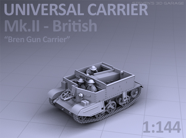 Universal Carrier MkII - (1:144) in Smooth Fine Detail Plastic