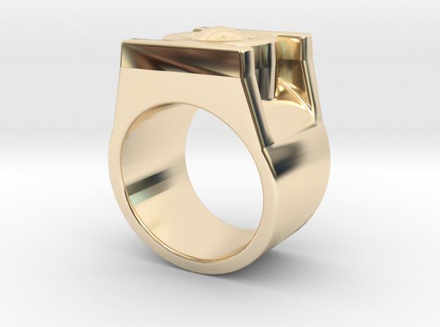 Green Lantern Ring 9 in 14K Yellow Gold