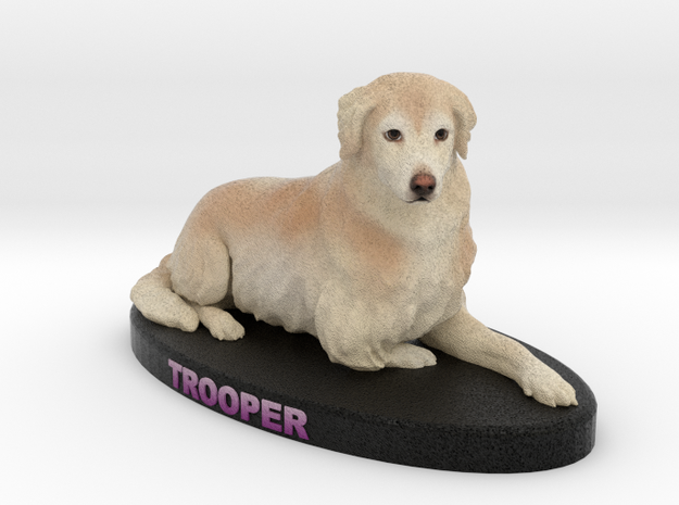 Custom Dog Figurine - Trooper