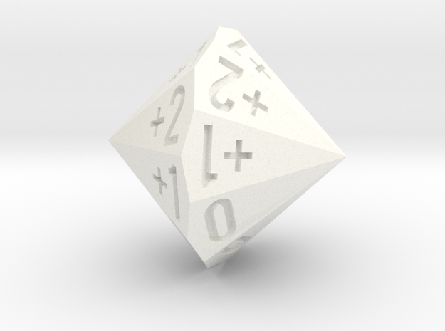 d18 as 2dF (Double Fudge Dice In One Bipolar Die)
