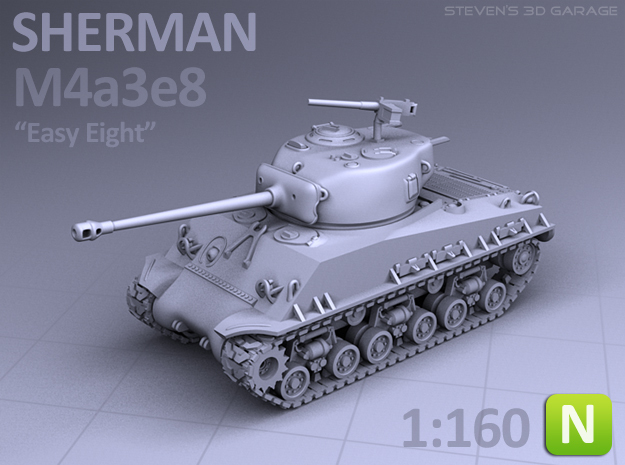 SHERMAN M4A3e8 (N scale)