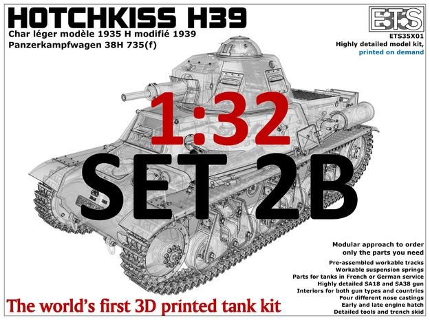 ETS32X01 - Hotchkiss H39 - Set 2B in Smooth Fine Detail Plastic