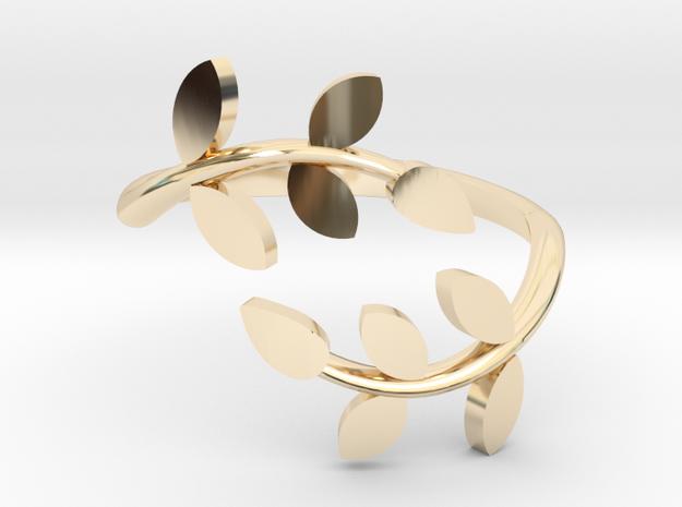 Vine Ring in 14k Gold Plated Brass: 6 / 51.5