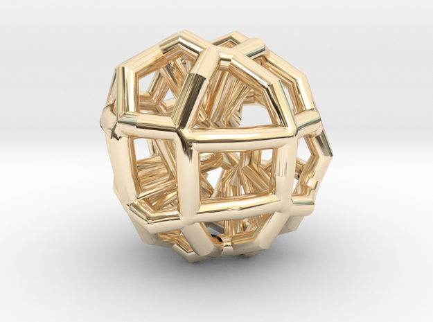 Cellfractur in 14K Yellow Gold