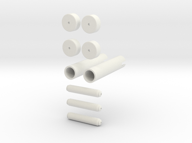 Mag Power Cylinders Kit Form in White Natural Versatile Plastic