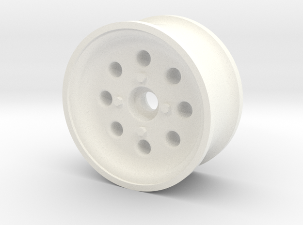 1/10 SCALE 1.9 TRAILER WHEEL W/ 8-HOLES in White Processed Versatile Plastic