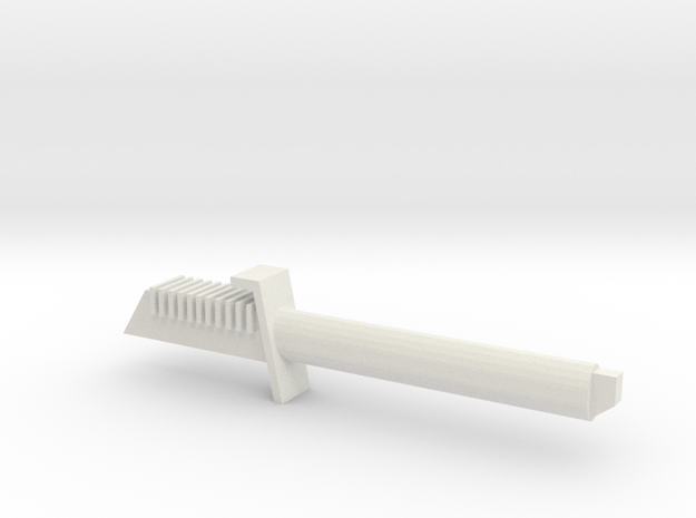 Dark Saber Hilt in White Natural Versatile Plastic