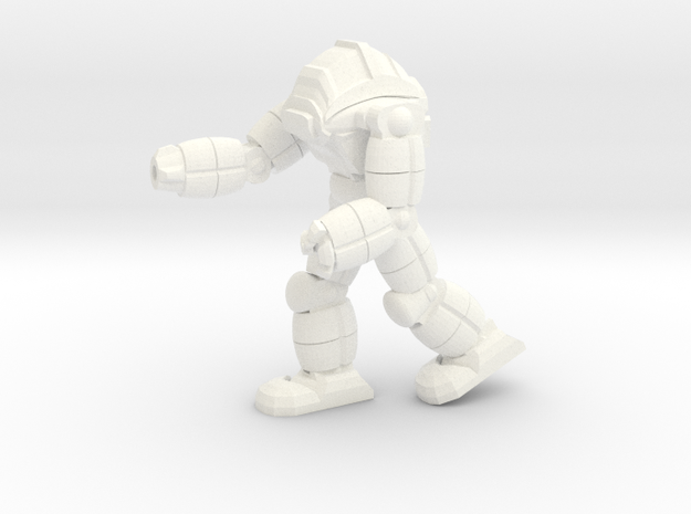 Neo Battlesuit Pose 1 in White Processed Versatile Plastic